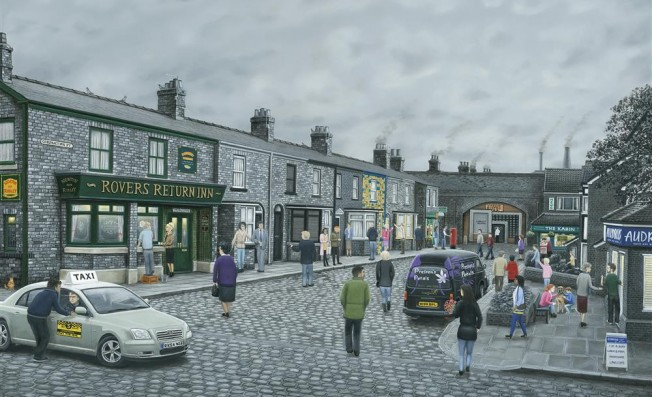 Leigh Lambert - On The Cobbles - Canvas